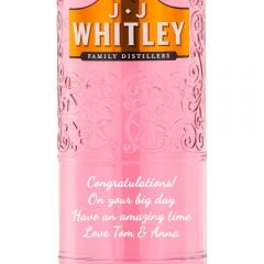 Personalised JJ Whitley Pink Cherry Gin