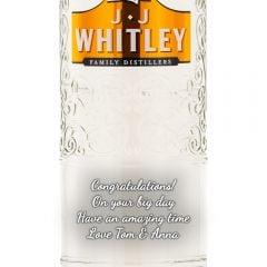 Personalised JJ Whitley Vanilla Vodka