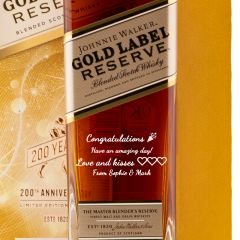 Personalised Johnnie Walker Gold Reserve Glass Gift Set