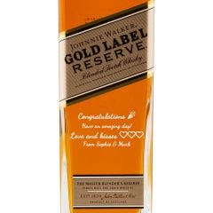 Personalised Johnnie Walker Gold Reserve Limited Edition