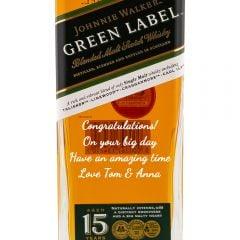 Personalised Johnnie Walker Green Label