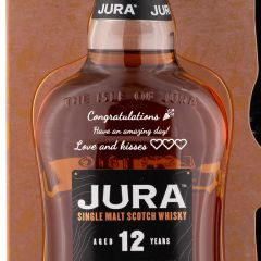 Personalised Jura 12 Year Old Glass Gift Set