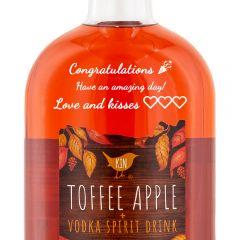 Personalised Kin Toffee Apple Vodka