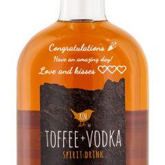 Personalised Kin Toffee Vodka