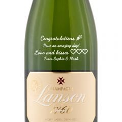 Personalised Lanson Ivory Label