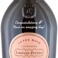 Personalised Laurent Perrier Rose Magnum 150cl