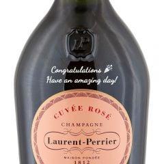 Personalised Laurent Perrier Rose