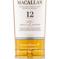 Personalised Macallan 12 Year Old Triple Cask