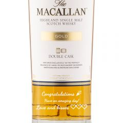 Personalised Macallan Double Cask Gold