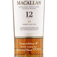 Personalised Macallan 12 Year Sherry Oak