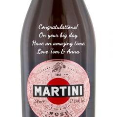 Personalised Martini Sparkling Rose