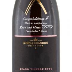 Personalised Moet & Chandon Grand Vintage Rose
