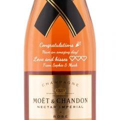 Personalised Moet & Chandon Nectar Imprial Rose