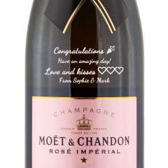 Personalised Moet & Chandon Rose