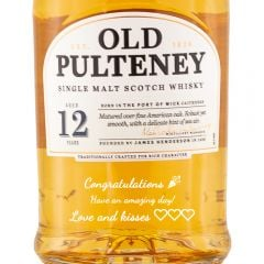 Personalised Old Pulteney 12 Year Old