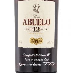 Personalised Ron Abuelo 12 Year Old Anejo