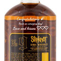 Personalised Slipknot No.9 Iowa Whiskey
