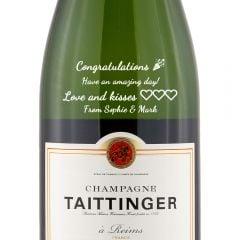 Personalised Taittinger Brut Reserve Champagne
