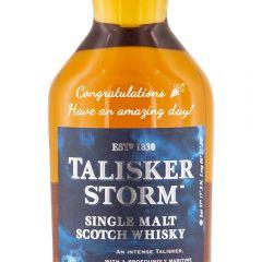 Personalised Talisker Storm Whisky