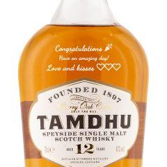 Personalised Tamdhu 12 Year Old Speyside