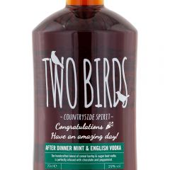 Personalised Two Birds After Dinner Mint Vodka