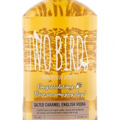 Personalised Two Birds Salted Caramel Vodka