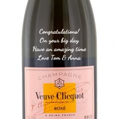 Personalised Veuve Clicquot Rose NV Champagne