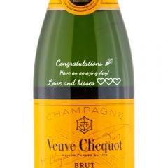 Personalised Veuve Clicquot Yellow Label Half Bottle 37.5cl