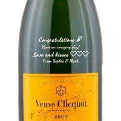 Personalised Veuve Clicquot Yellow Label Magnum
