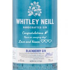 Personalised Whitley Neill Blackberry Gin