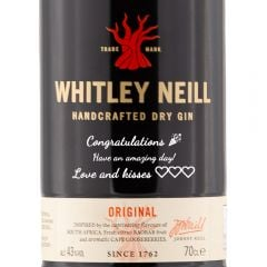 Personalised Whitley Neill Premium Gin