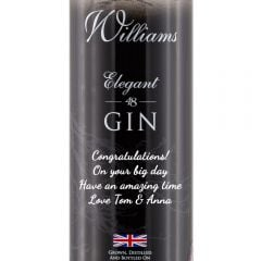 Personalised William Chase Elegant Crisp Gin