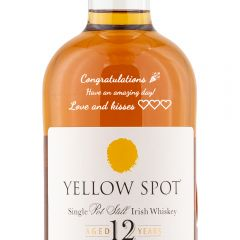 Personalised Yellow Spot 12 Year Old