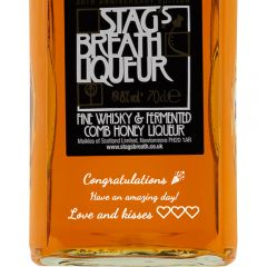 Personalised Stags Breath Liqueur