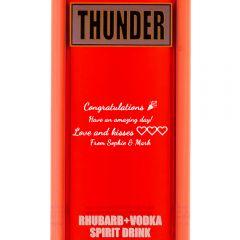 Personalised Thunder Rhubarb and Ginger Vodka Liqueur