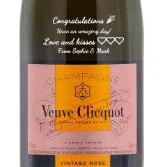 Personalised Veuve Clicquot Vintage Rose