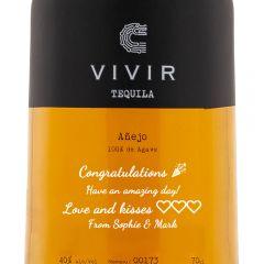 Personalised Vivir Tequila Anejo