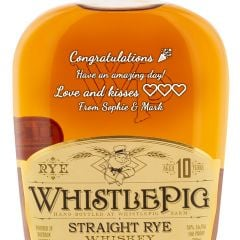 Personalised WhistlePig 10 Year Old Straight Rye
