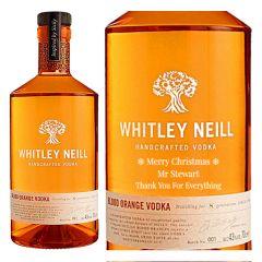 Personalised Whitley Neill Blood Orange Vodka