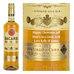 Personalised Bacardi Carta Oro