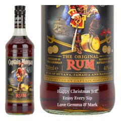 Personalised Captain Morgan Original Rum 1 Litre