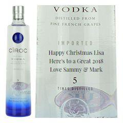 Personalised Ciroc Magnum Vodka 175cl