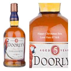 Personalised Doorlys 5 Year Old Gold Rum