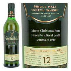 Personalised Glenfiddich 12 Year Old