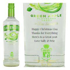 Personalised Smirnoff Green Apple Vodka