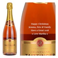 Personalised Taittinger Brut Prestige Rose