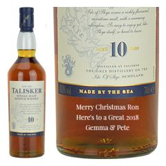 Personalised Talisker 10 Year Old