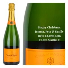 Personalised Veuve Clicquot Yellow Label NV