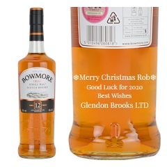 Personalised Bowmore 12 Year Old