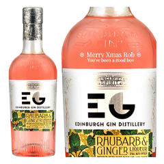 Personalised Edinburgh Rhubarb and Ginger Gin